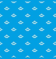 Red scissor car jack pattern seamless blue vector