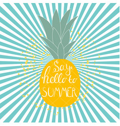 say hello to summer natural background vector image