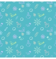 Seamless color pattern for Christmas and New Year vector image