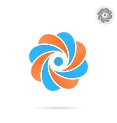Segmented circle - o letter concept vector