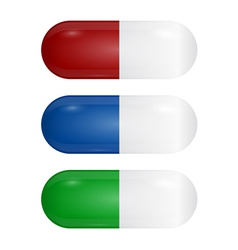 Set of colored pills vector image