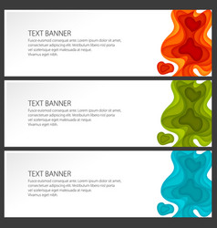 set of colorful gradient abstract banners vector image