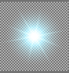 shining star on transparent background aqua color vector image
