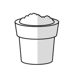 Soil in pot icon image vector