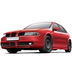 Spanish 5 door hatchback vector image