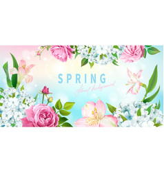 Spring collection background vector