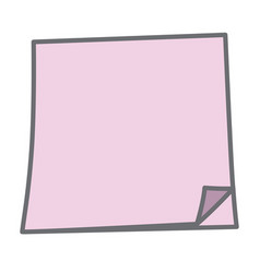 Sticky paper note vector