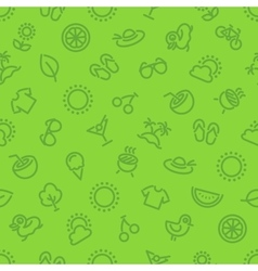 Summer and Vacation Green Seamless Pattern vector image