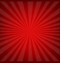 sunburst red retro poster vector image