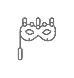 Traditional venetian mask masquerade carnivals vector