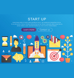 trendy flat gradient color startup business vector image