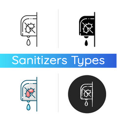 wall mounted sanitizer icon vector image