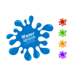 water splash and color juice variation vector image