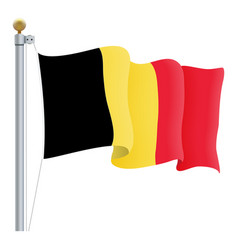 waving belgium flag isolated on a white background vector image