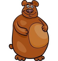 Wild bear cartoon vector