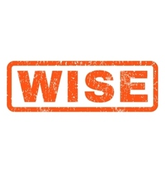 Wise Rubber Stamp vector