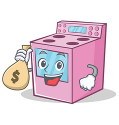 With money bag gas stove character cartoon vector