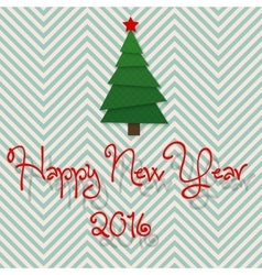 2016 modern design christmas tree Happy New Year vector image vector image