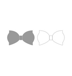 bow butterfly the grey set icon vector image
