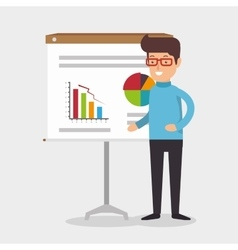 businessman avatar working icon vector image