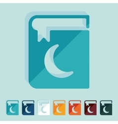 Flat design koran vector image
