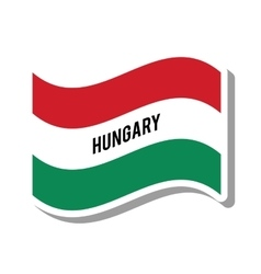 hungary patriotic flag isolated icon vector image vector image