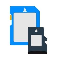 Micro SD memory card data digital storage vector image