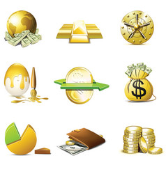 money icons | bella series vector image