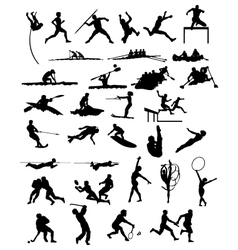 silhouettes sports vector image