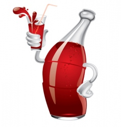 soda bottle vector image vector image