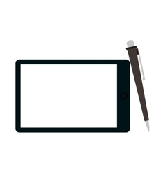 Tablet and pen icon vector