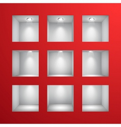 3D shelves vector image