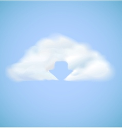 Cloud computing icon with arrow download vector image