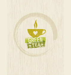 green tea rough design element concept vector image