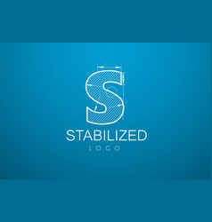logo template letter s in the style of a vector image