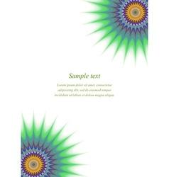 Multicolor fractal page corner design template vector image vector image