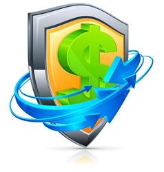 shield economic icons vector image