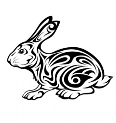 tribal rabbit vector image