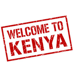 Welcome to kenya stamp vector