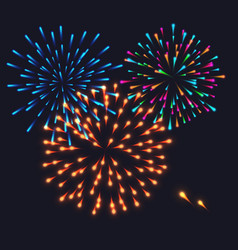 abstract colorful fireworks explosion vector image