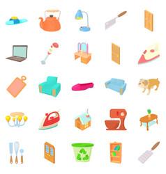 bascule icons set cartoon style vector image