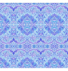 Blue ornate seamless pattern vector image vector image