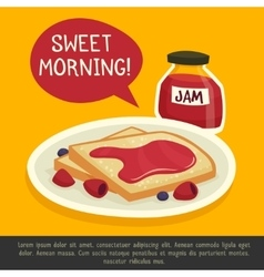 Breakfast Design Concept With Sweet Morning Remark vector image vector image