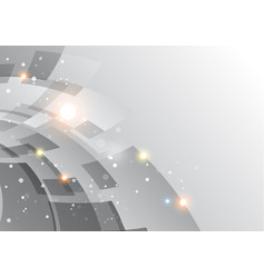 Silver background with abstraction vector
