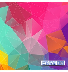 Abstract Geometric backgrounds Polygonal design vector image vector image