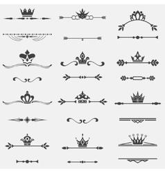 Collection of twelve vintage frames vector