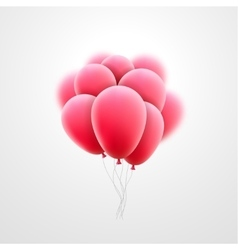 flying realistic pink glossy balloons vector image vector image