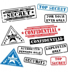 security rubber stamps vector image vector image