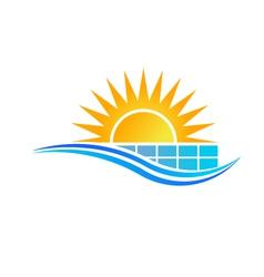 Solar Panel Logo vector image vector image