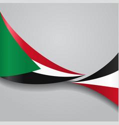 sudan wavy flag vector image vector image